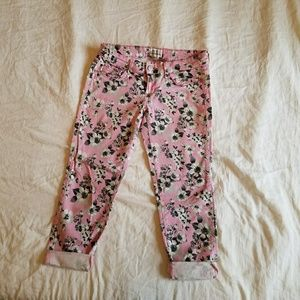 Aeropostale Pants - Floral cropped jeggings